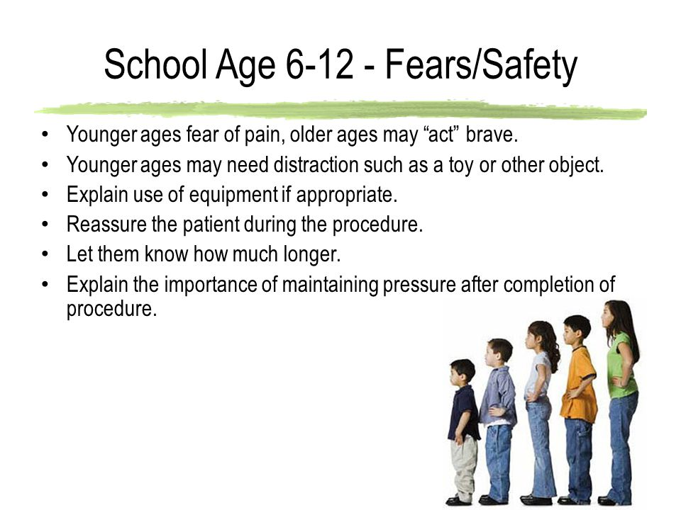 School Age 6-12 - Fears/Safety