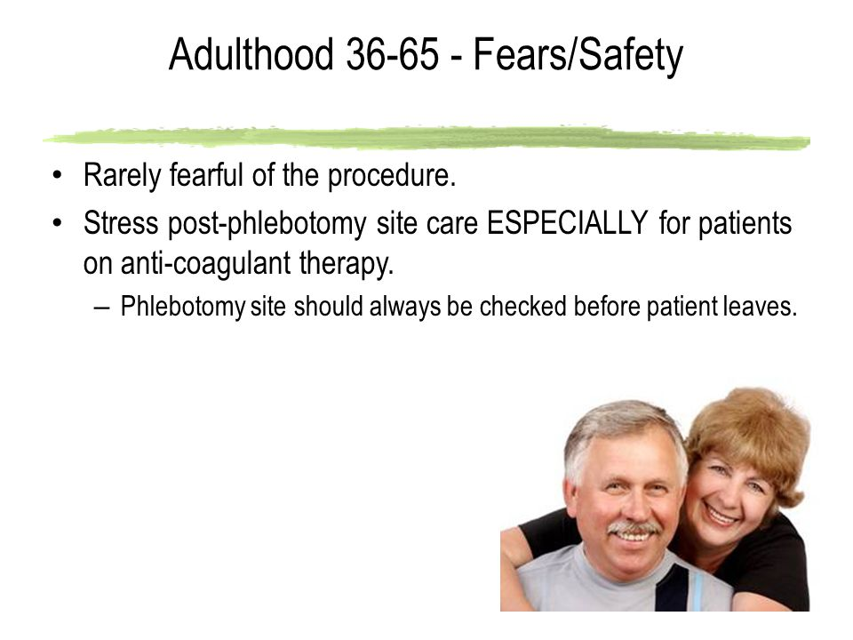 Adulthood 36-65 - Fears/Safety