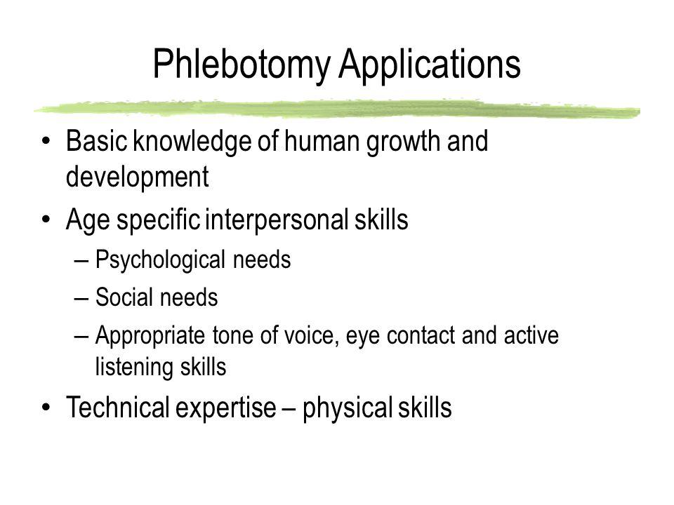 Phlebotomy Applications
