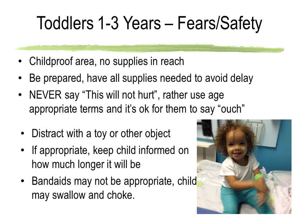 Toddlers 1-3 Years – Fears/Safety