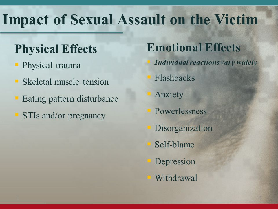Impact of Sexual Assault on the Victim