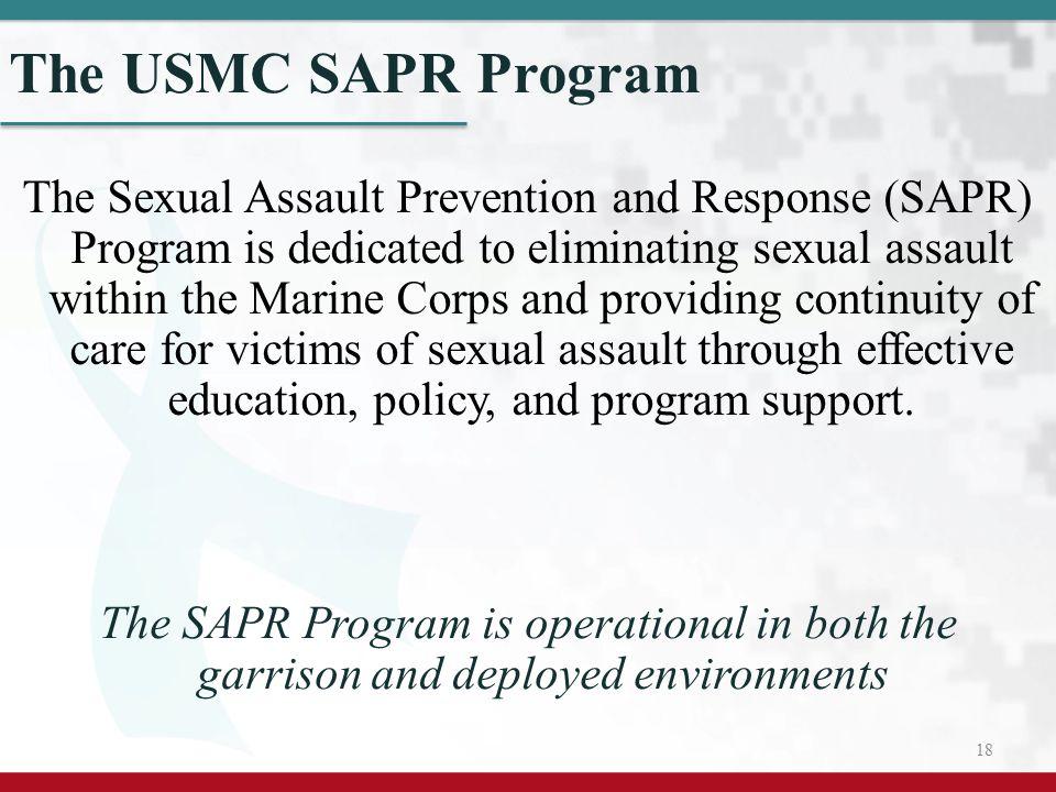 The USMC SAPR Program