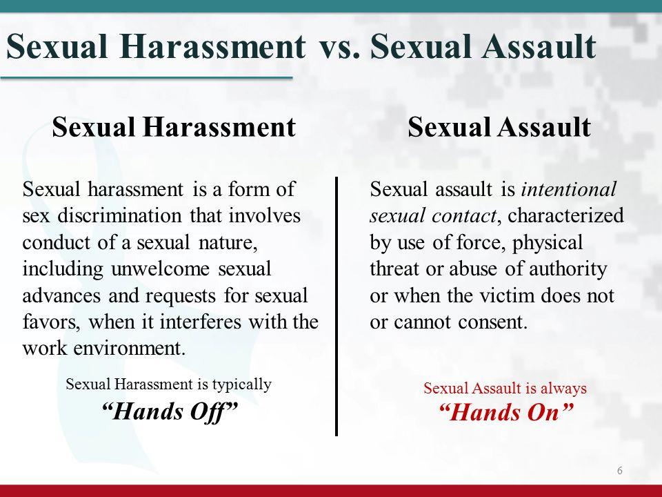 Sexual Harassment vs. Sexual Assault
