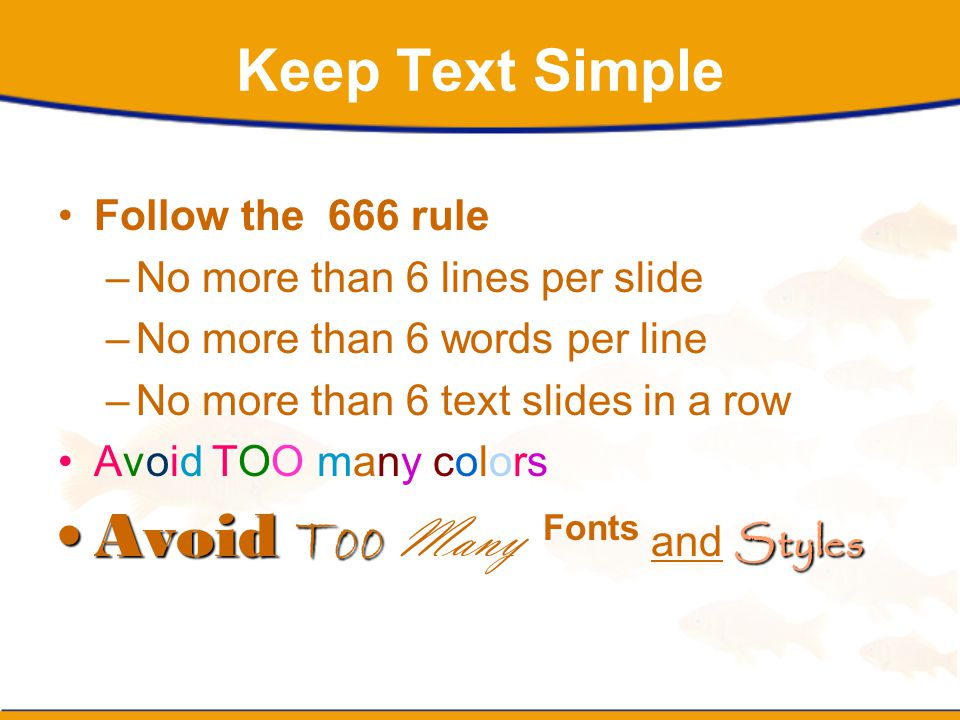 Avoid Too Many Fonts and Styles