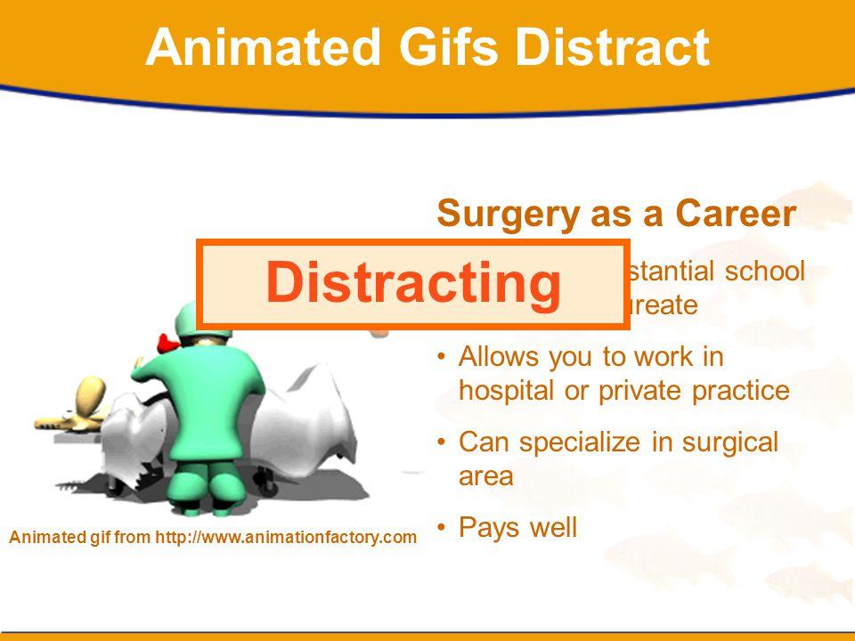 Animated Gifs Distract