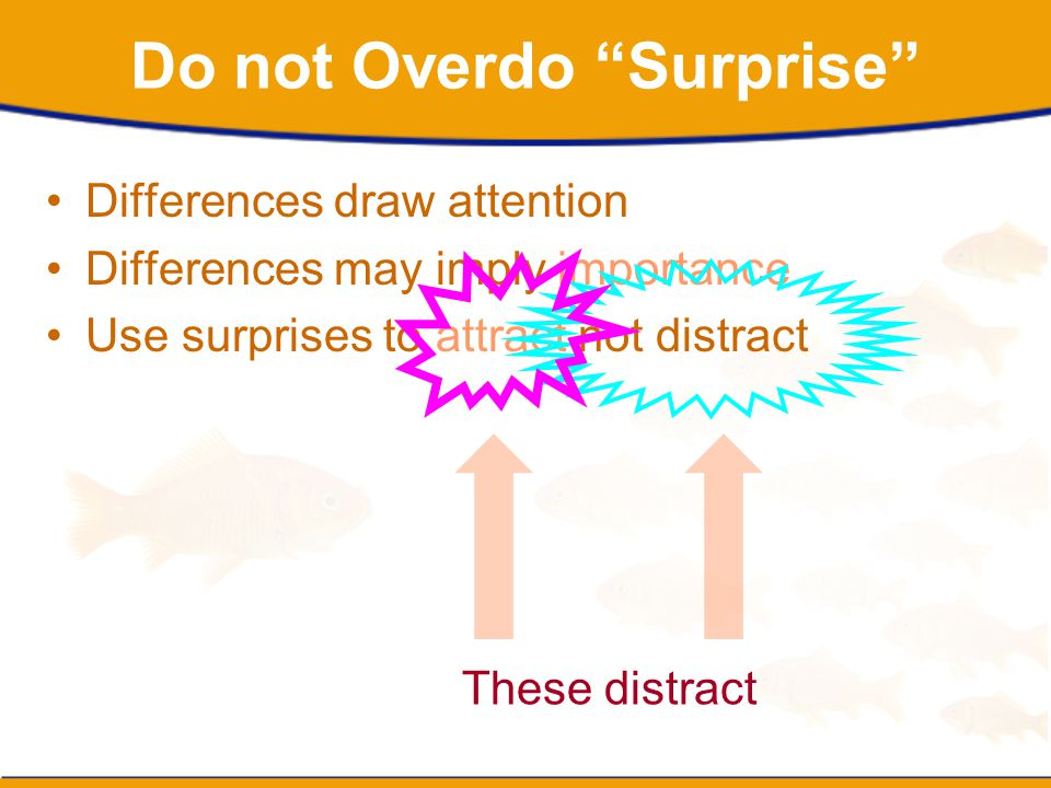 Do not Overdo Surprise