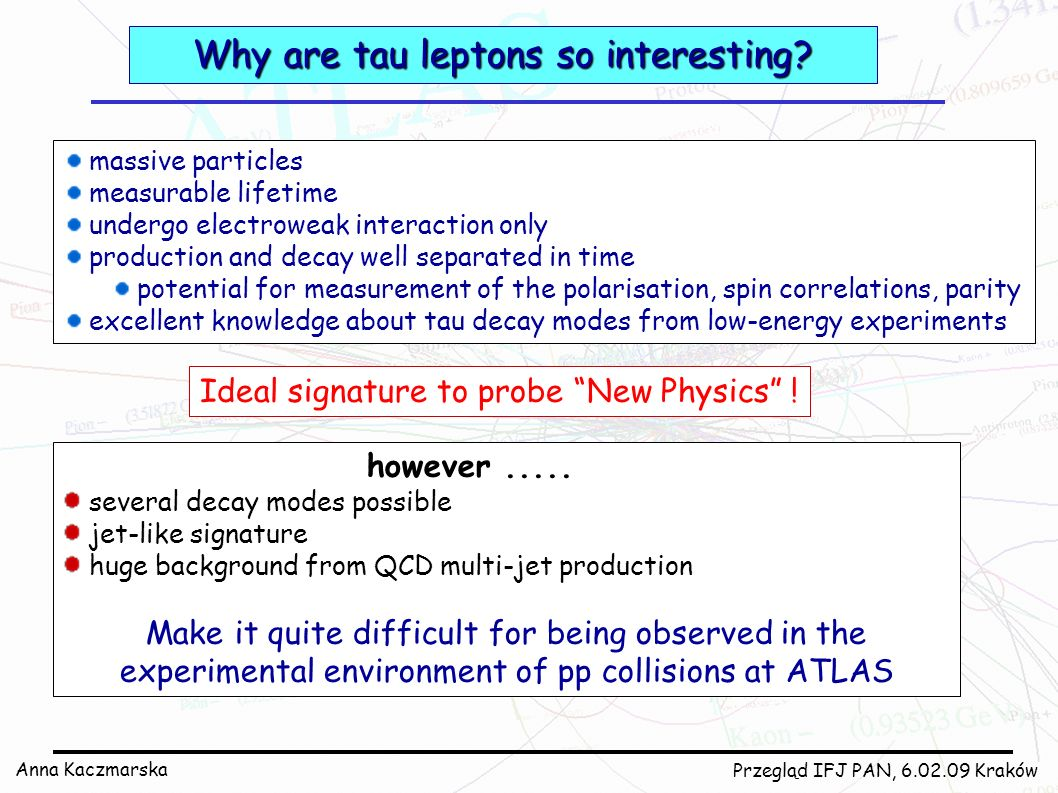 Why are tau leptons so interesting
