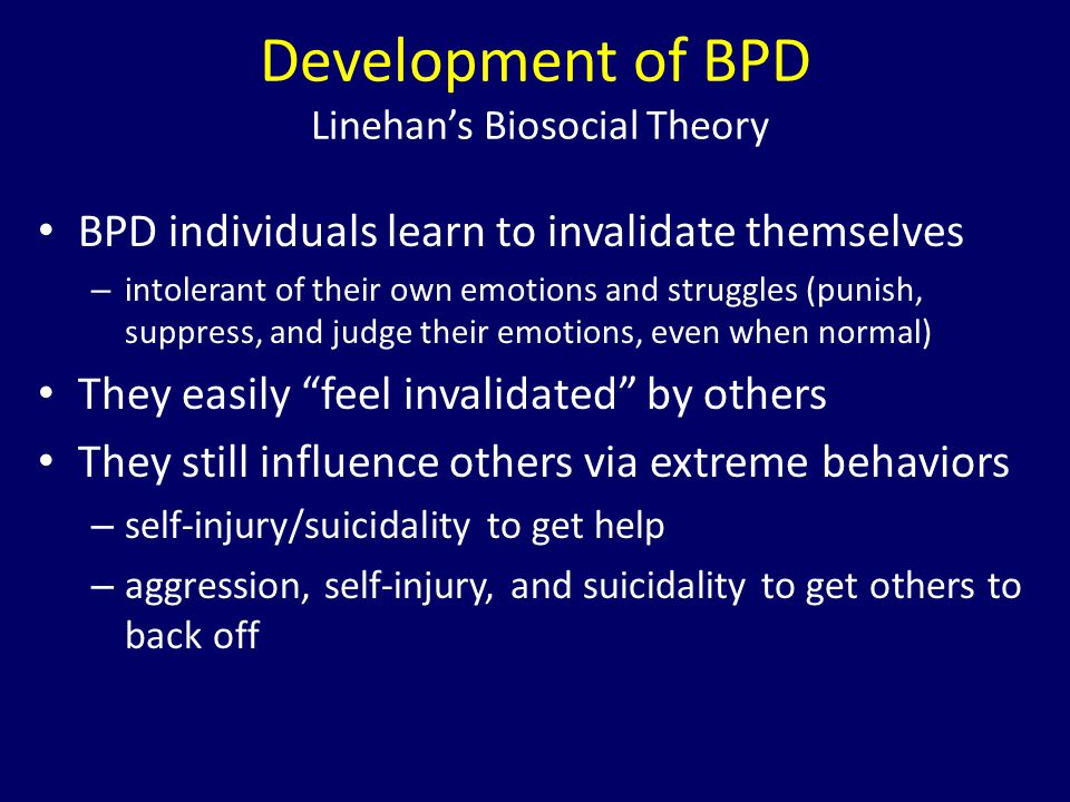 Development of BPD Linehan's Biosocial Theory