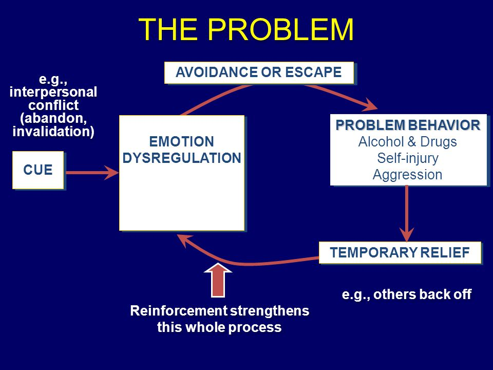 THE PROBLEM AVOIDANCE OR ESCAPE e.g., interpersonal conflict