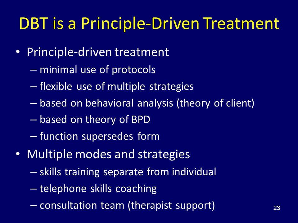 DBT is a Principle-Driven Treatment