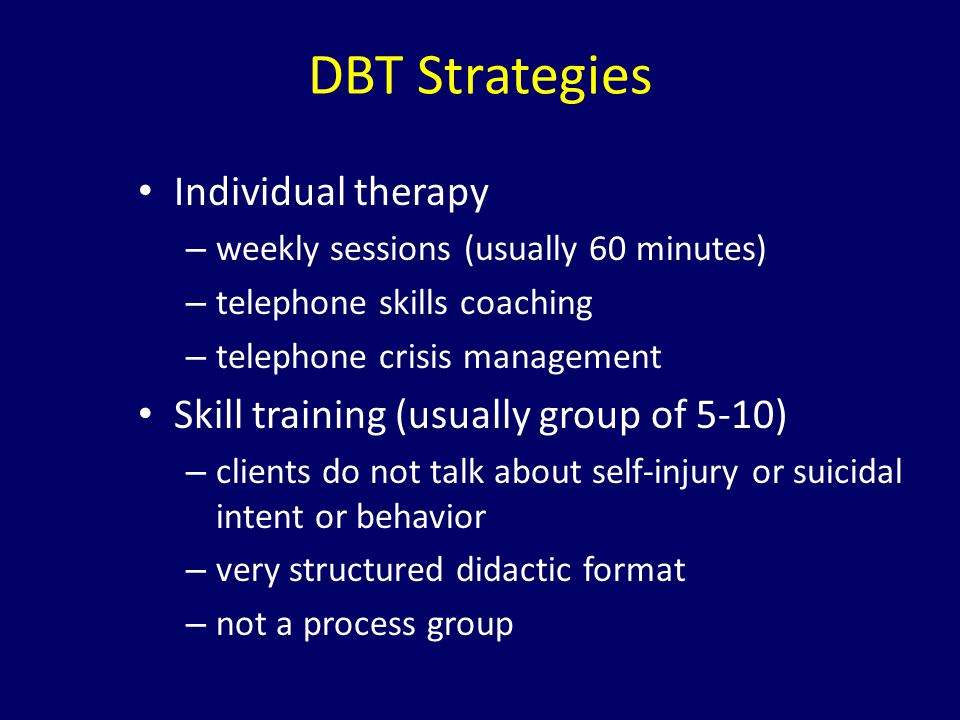 DBT Strategies Individual therapy