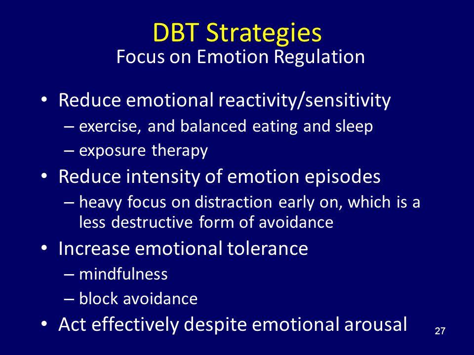 Focus on Emotion Regulation