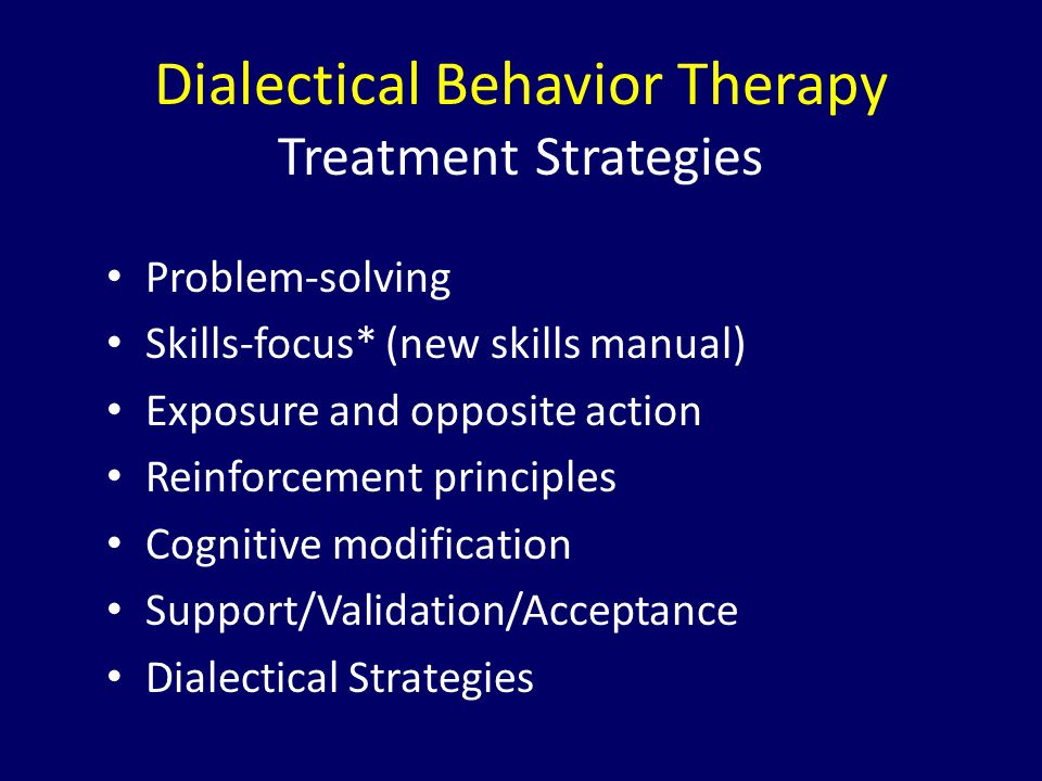 Dialectical Behavior Therapy Treatment Strategies