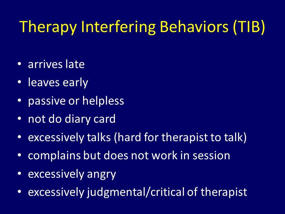 Therapy Interfering Behaviors (TIB)