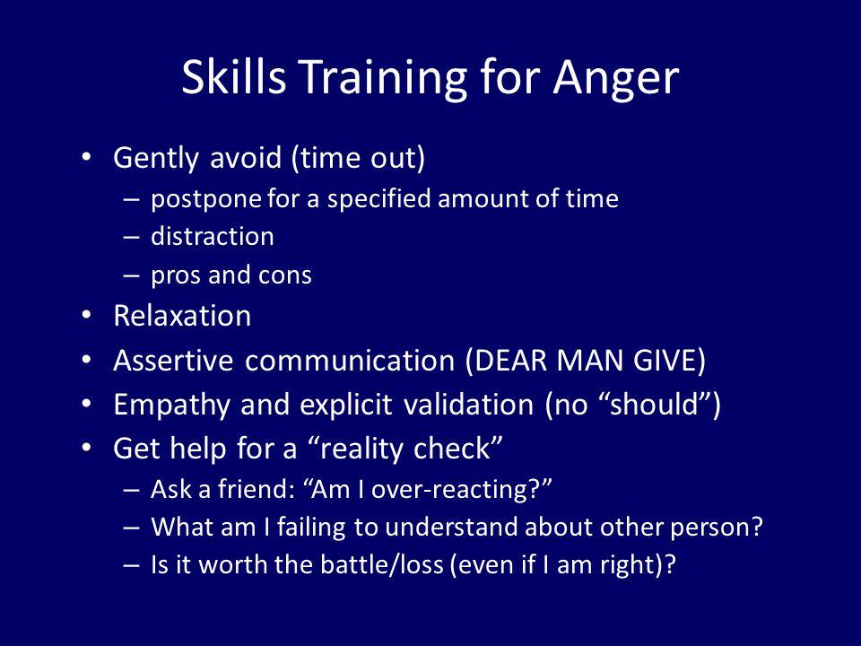 Skills Training for Anger