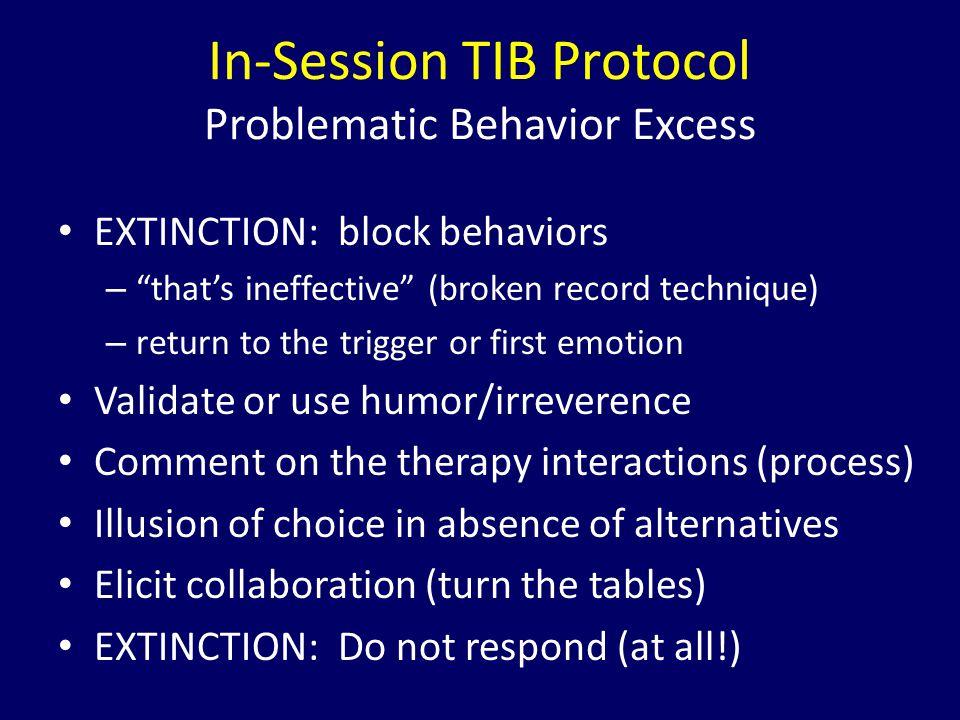 In-Session TIB Protocol Problematic Behavior Excess