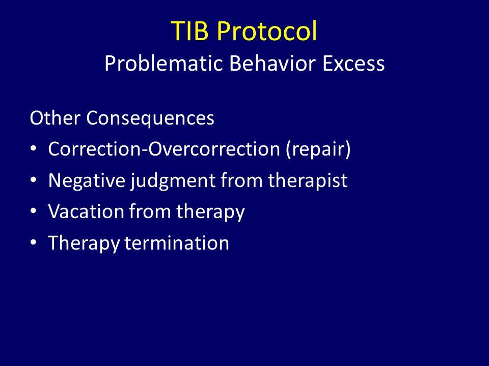 TIB Protocol Problematic Behavior Excess