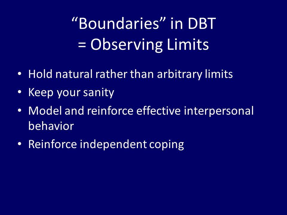 Boundaries in DBT = Observing Limits