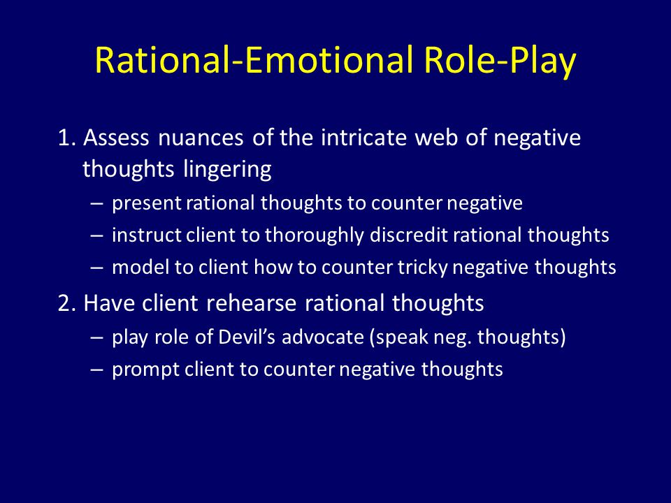 Rational-Emotional Role-Play