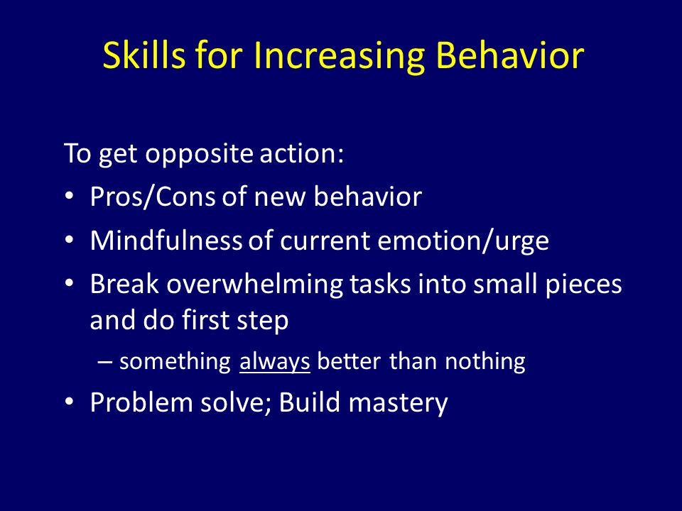 Skills for Increasing Behavior