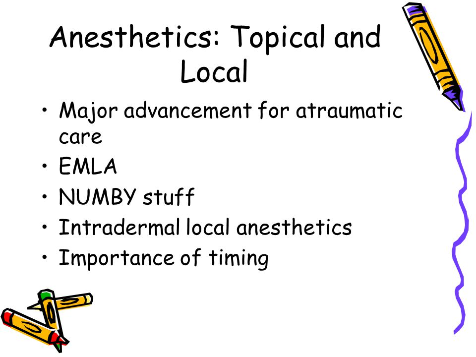 Anesthetics: Topical and Local