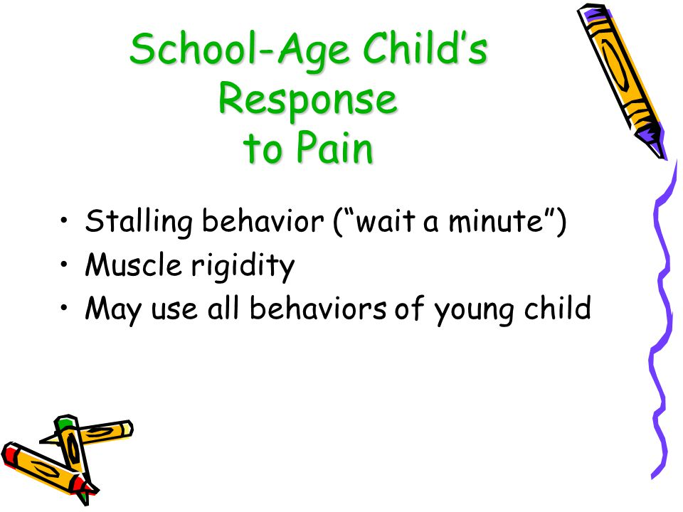 School-Age Child's Response to Pain