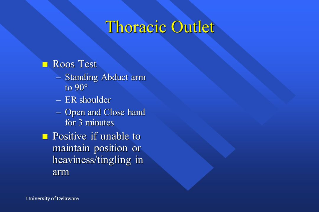 Thoracic Outlet Roos Test