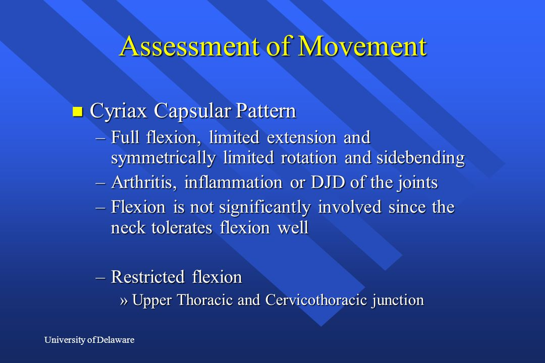 Assessment of Movement