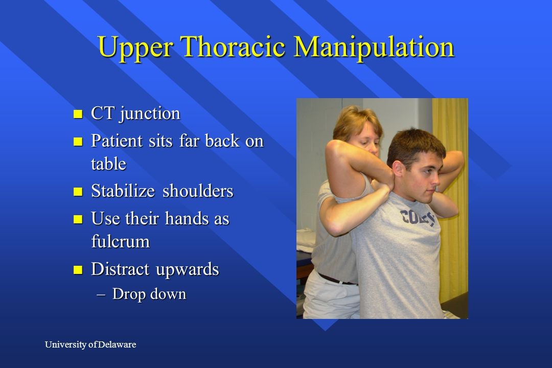 Upper Thoracic Manipulation