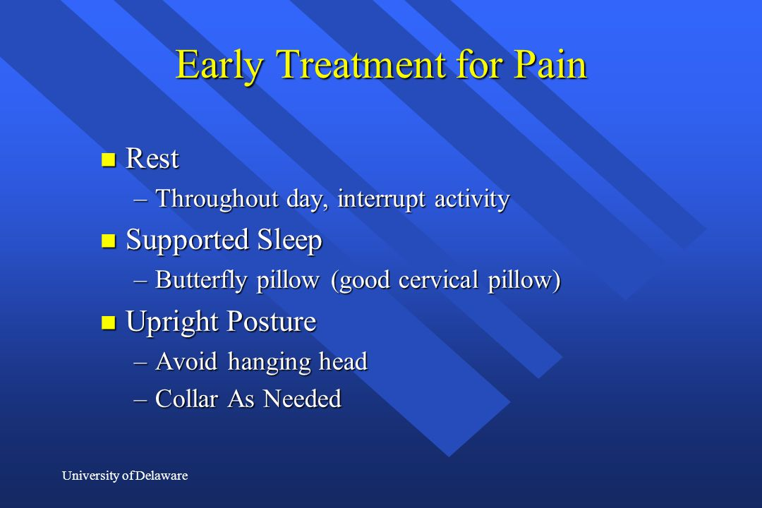 Early Treatment for Pain
