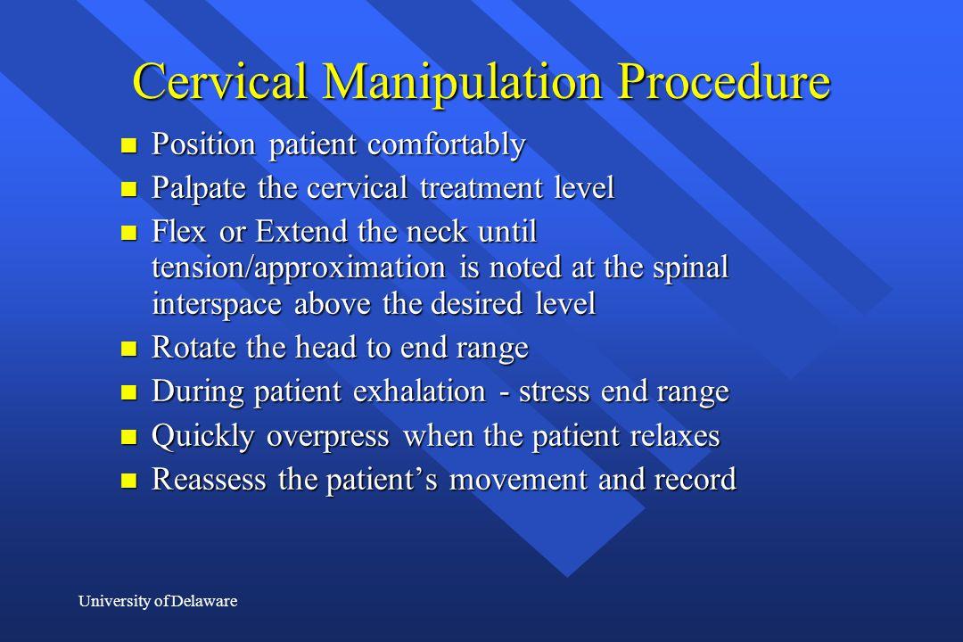 Cervical Manipulation Procedure