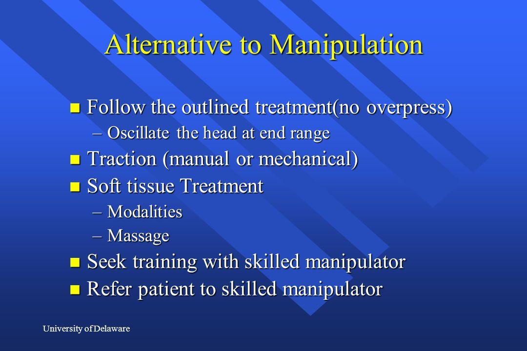 Alternative to Manipulation