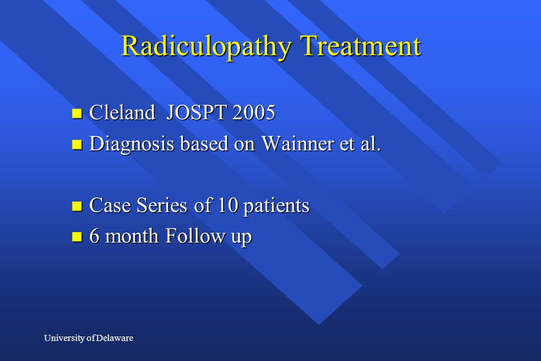 Radiculopathy Treatment