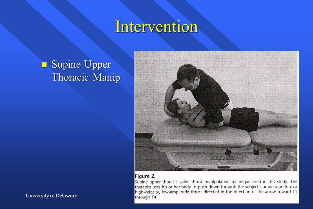 Intervention Supine Upper Thoracic Manip