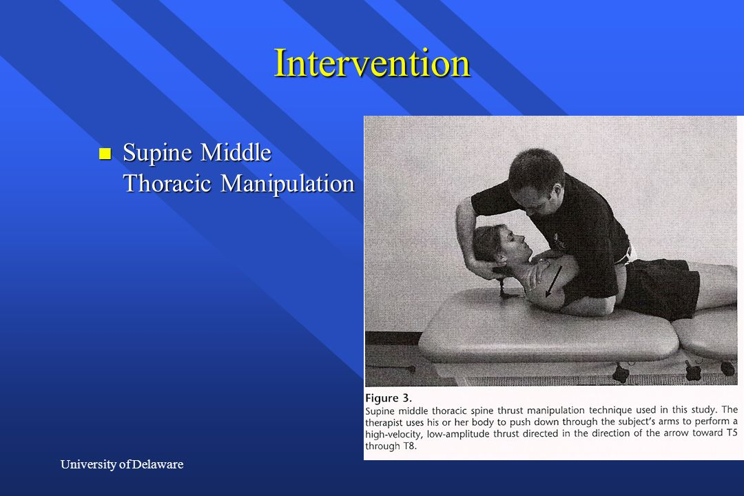 Intervention Supine Middle Thoracic Manipulation