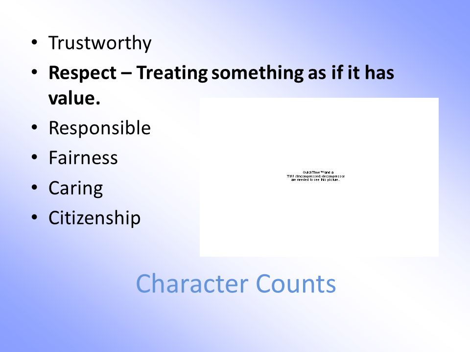 Character Counts Trustworthy