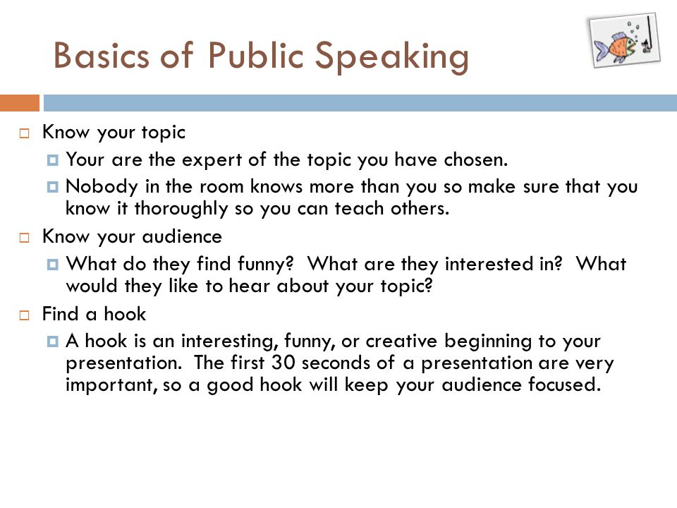 Basics of Public Speaking