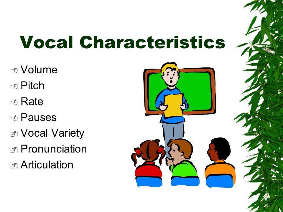 Vocal Characteristics