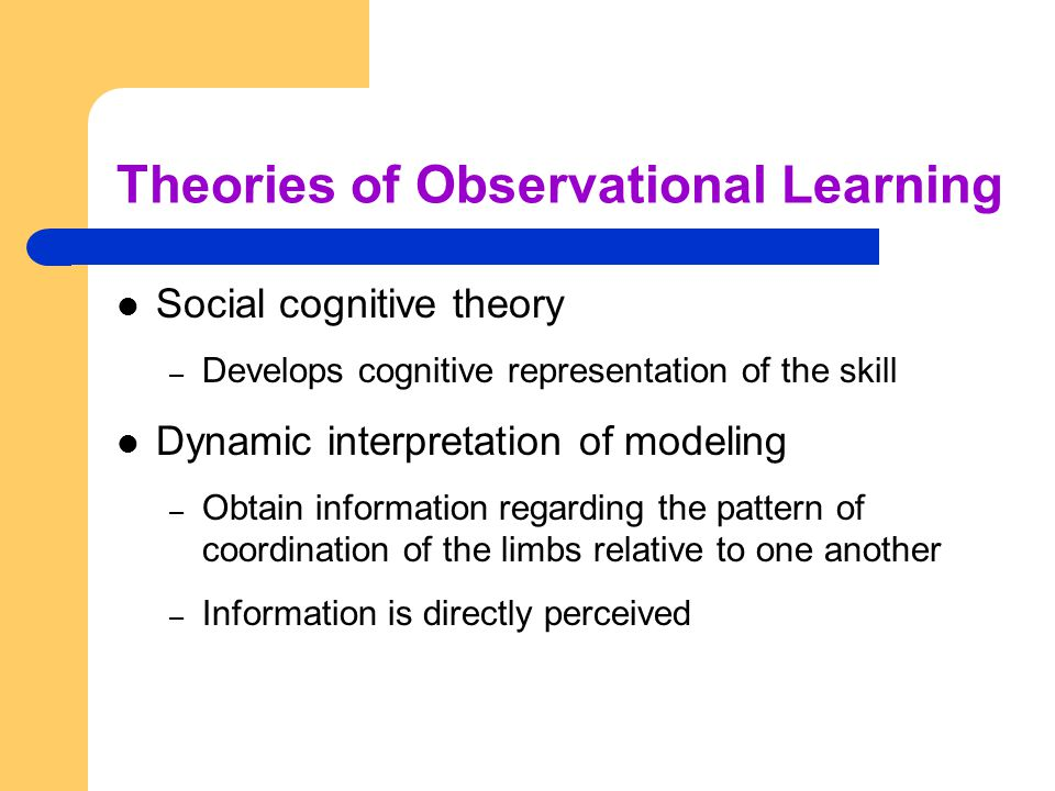 Theories of Observational Learning