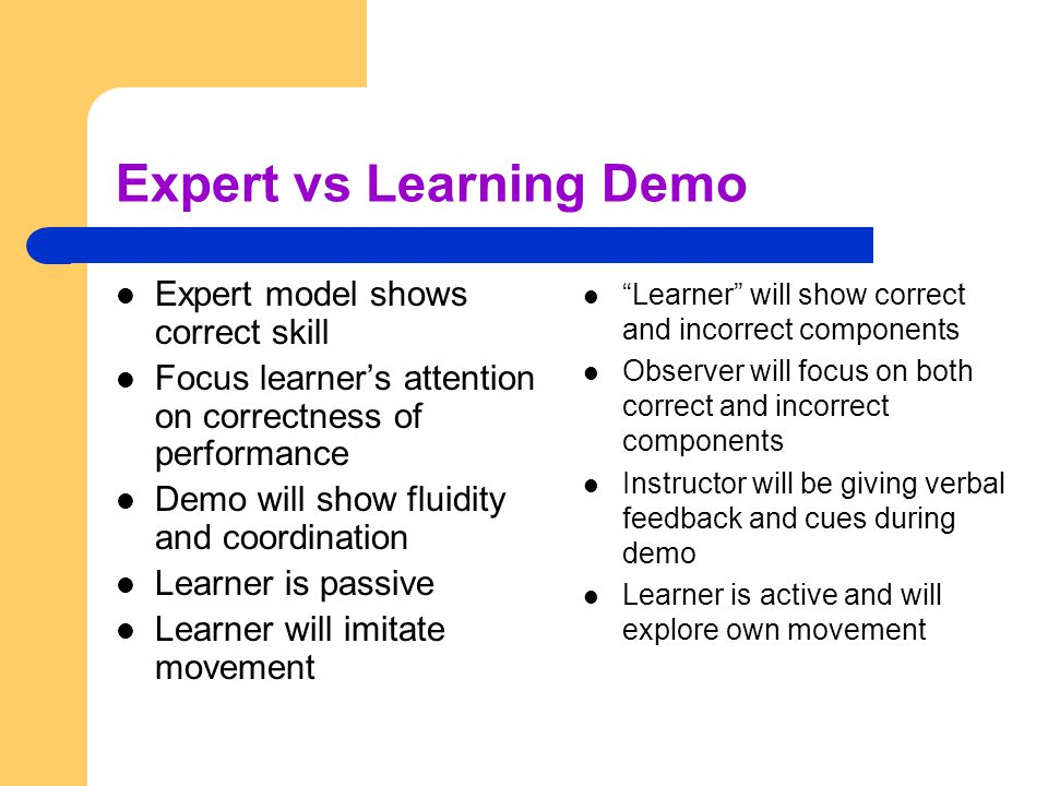 Expert vs Learning Demo