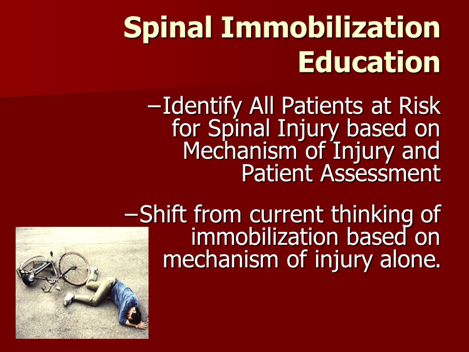 Spinal Immobilization Education