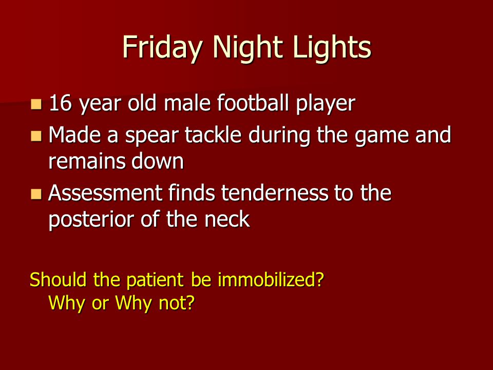 Friday Night Lights 16 year old male football player