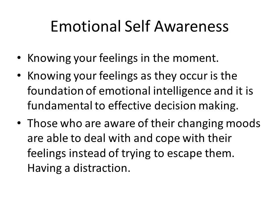 Emotional Self Awareness