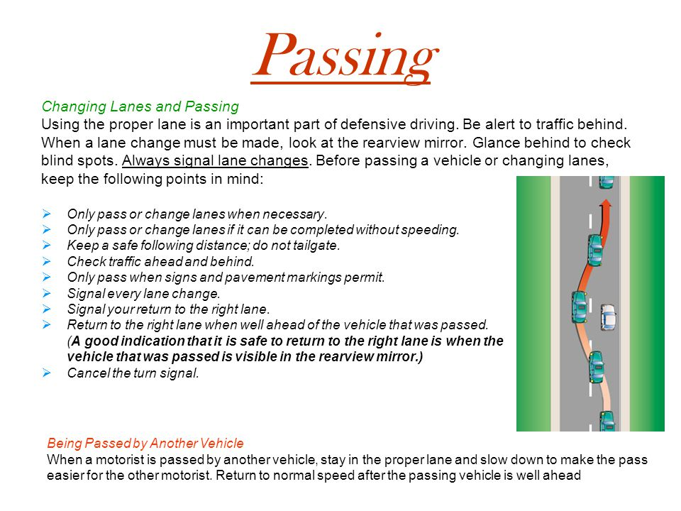 Passing Changing Lanes and Passing