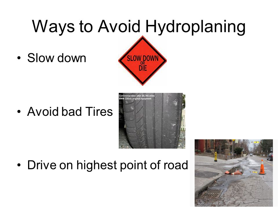 Ways to Avoid Hydroplaning