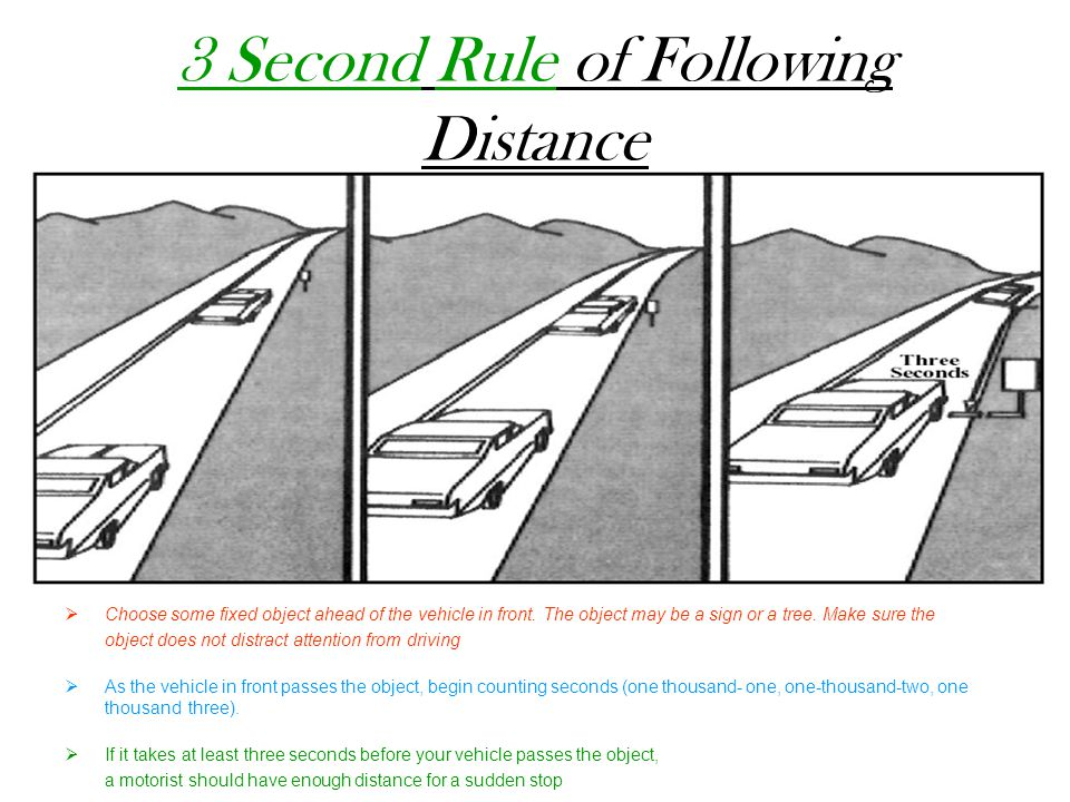 3 Second Rule of Following Distance
