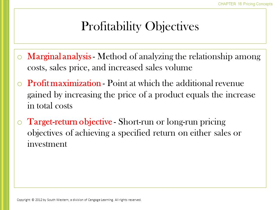 relationship among marketing costs sales and profitability