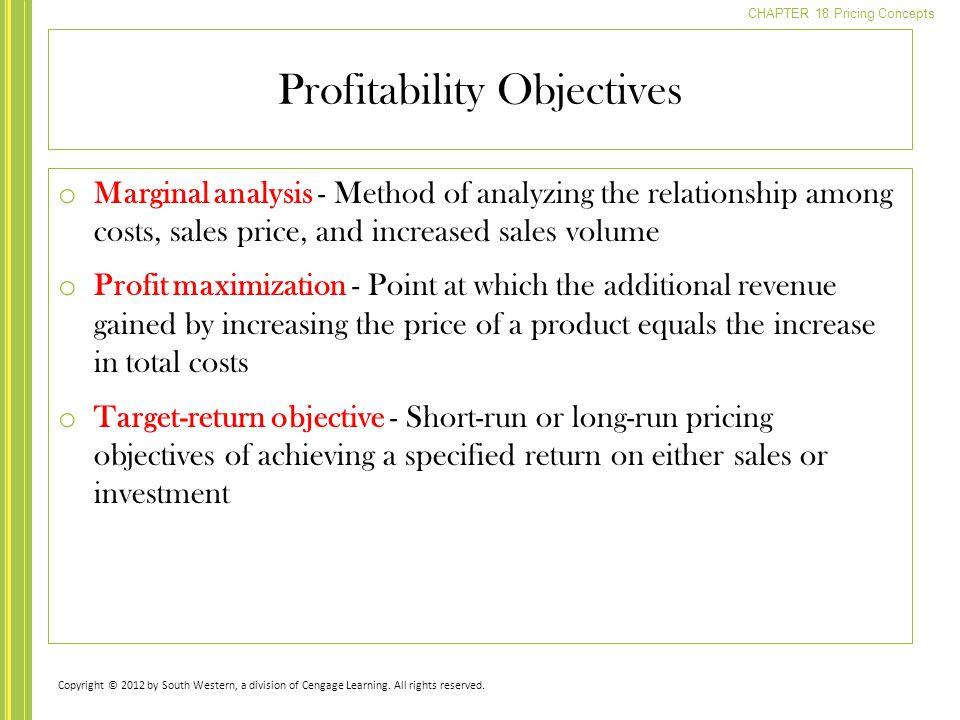 Profitability Objectives