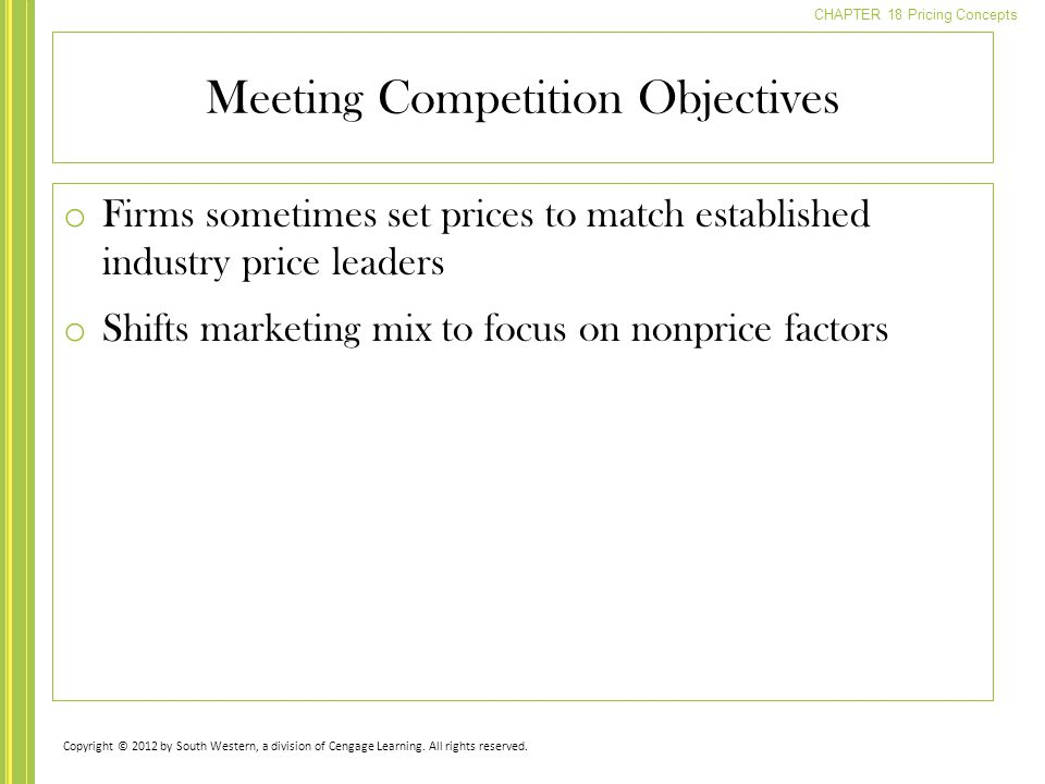 Meeting Competition Objectives