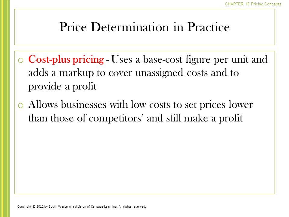 Price Determination in Practice